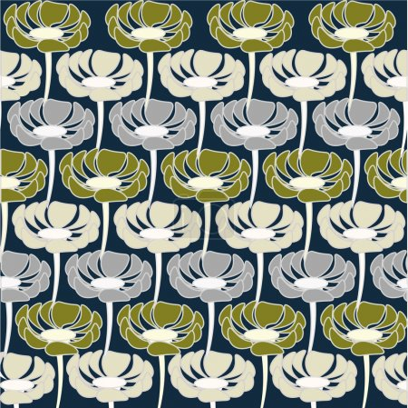 Flowersvgreen, grau,green, beauty, vector, background, texture