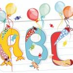 Abc, alphabet, ausbildung, ballon, ballons, banner...