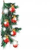 christmas tree with red balls background 2