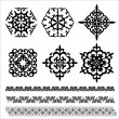 Set of  Kazakh, Asian, floral ornaments and patter...