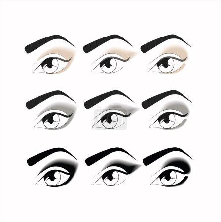 eye makeup every day. makeup. eye makeup. various options for e
