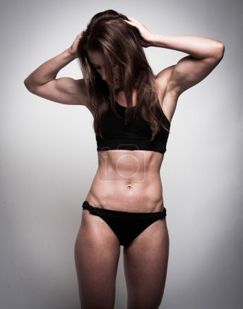 Woman with toned body
