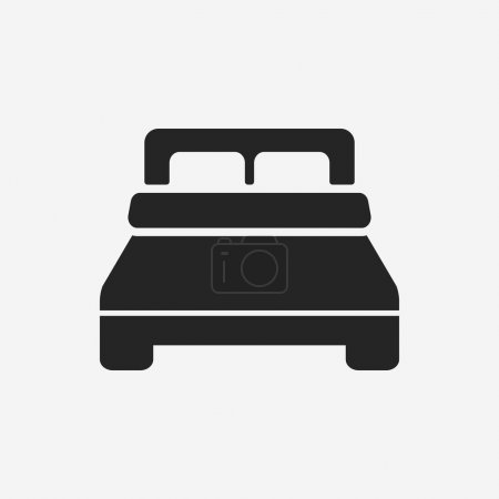 Illustration for Bed icon - Royalty Free Image