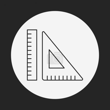 Triangle ruler line icon