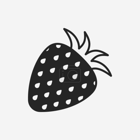 Illustration pour Fruits fraise icône - image libre de droit