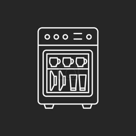 Dishwasher line icon...
