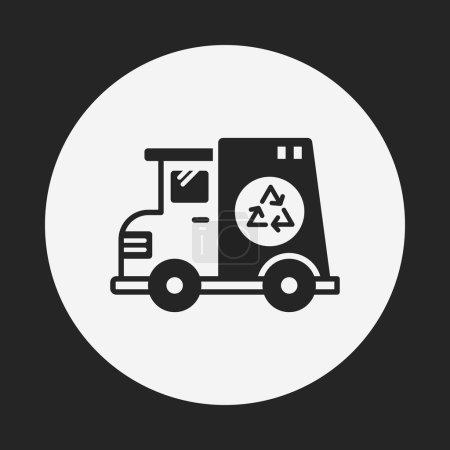 garbage car icon
