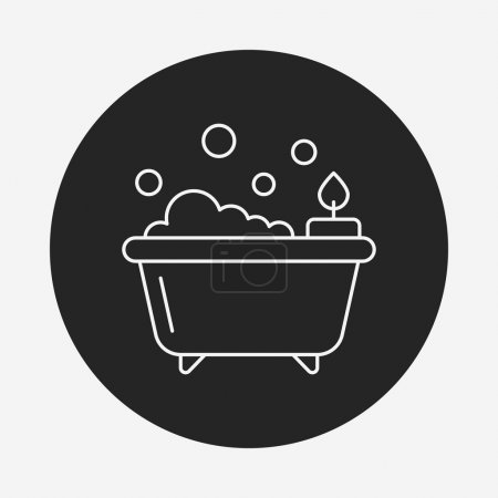 bathtub line icon