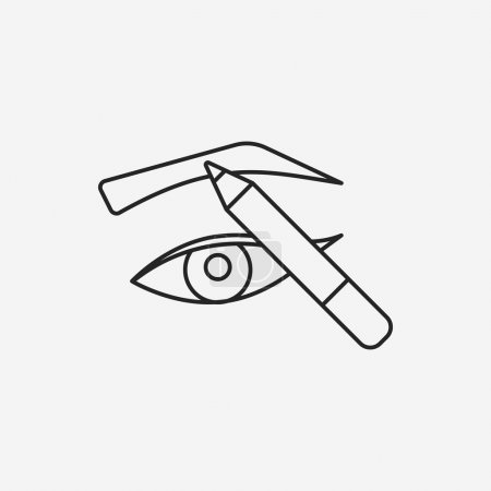 Painted eyebrows line icon