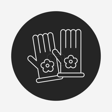 Working gloves line icon