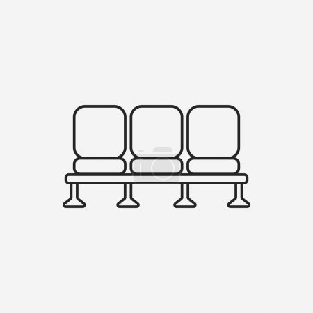 airport seat line icon