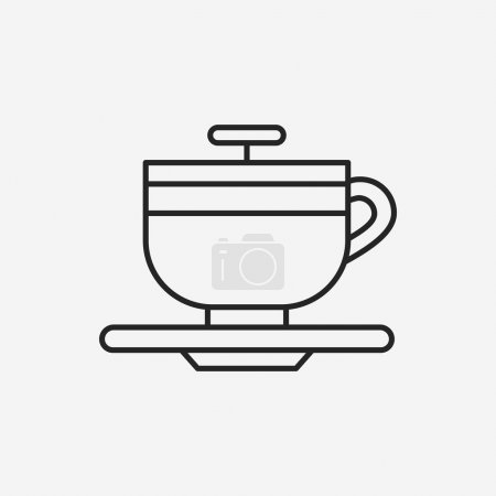 amusement park coffee-cup line icon