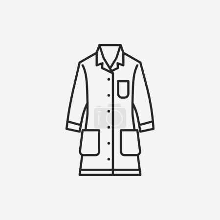 Lab coat line icon