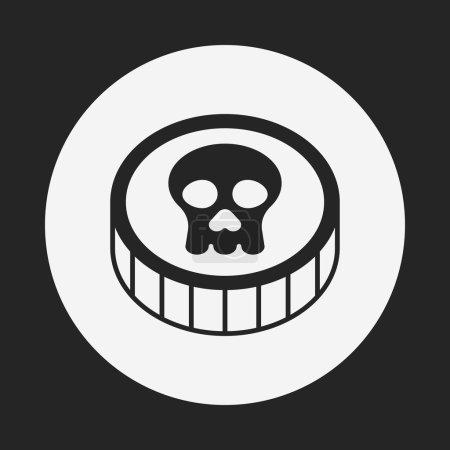 Pirate coin icon...