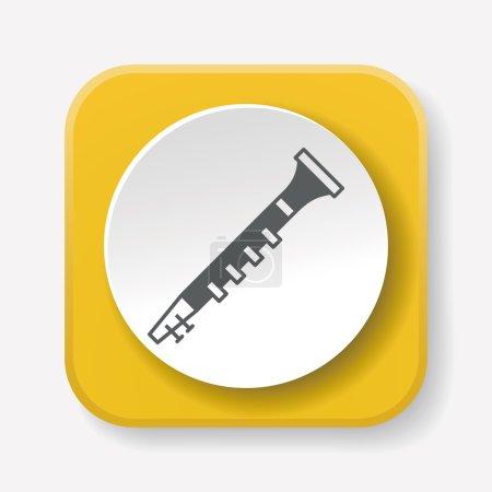 Oboe icon vector illustration