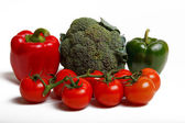 Bell pepper , broccoli and tomatoes