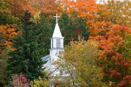 Maple City's St. Rita's Catholic Church in Autumn