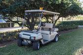 Kočárek Golf zaparkované na trávě