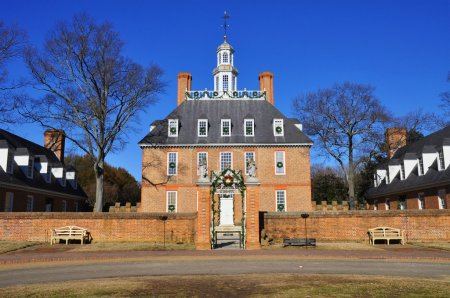 The Governor's Palace in Colonial Williamsburg Virginia