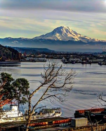 Majestic Mount Rainier HDR