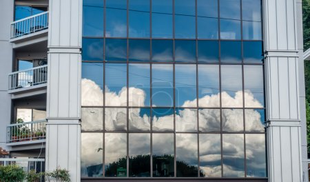 Clouds Reflection In Windows
