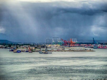 Storm Over The Port Of Tacoma - HDR