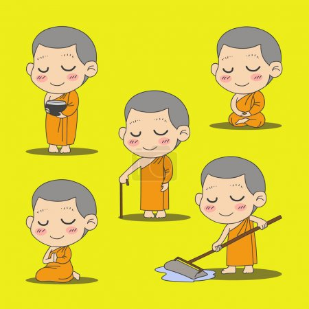 monk cartoon