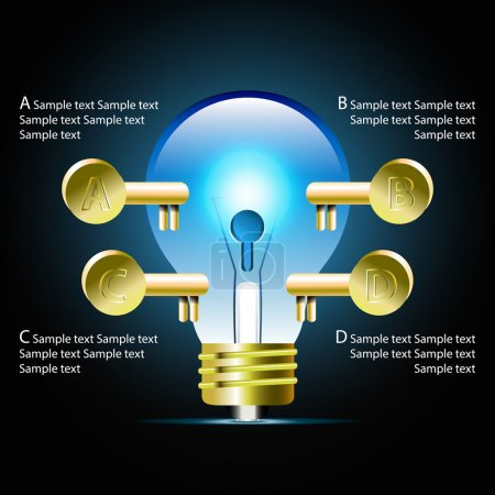 Creative light bulb idea infographic and business Infographic cr