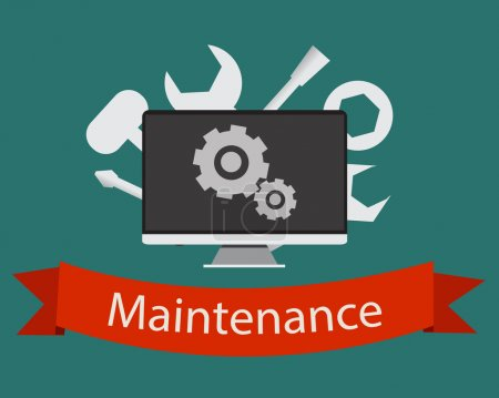Illustration for Flat vector concept maintenance. - Royalty Free Image