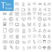 Tenká čára ikony