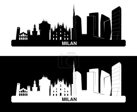 Milan: silhouette