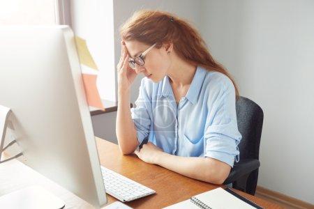 entrepreneur looking at the computer screen