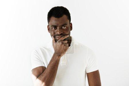 black man looking at the camera