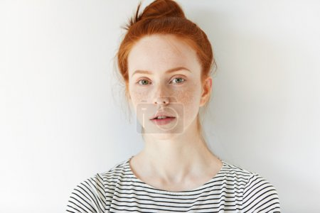 female teenager with healthy clean skin