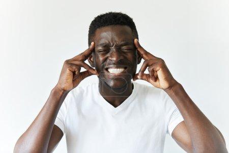 man having bad headache