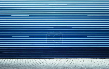 Aged street blue wall background texture