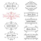Sada caligraphic snímků