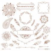 Boho style vector elements