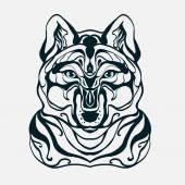 graphics wolf's head