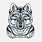 graphics wolf's headwolfvector illustration