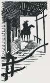 Vector cartoon cowboy western high detail