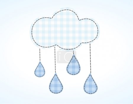 rain comes from the clouds water droplets darned horizontal