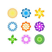 radial vector pattern floral color colorful 1