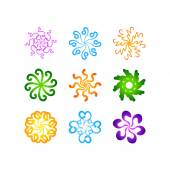 radial vector pattern floral color colorful 3