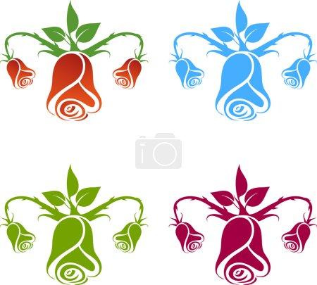 Gynecology logo, flowers