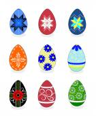 Easter eggs: vector illustration with a set of colorful painted