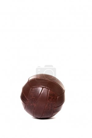 Brown vintage soccer ball