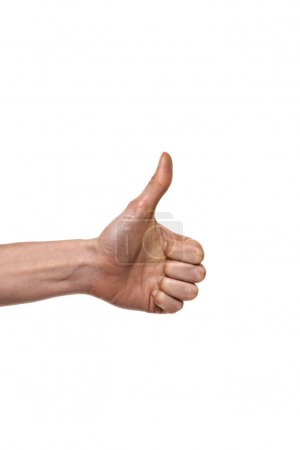 Thumb up isolated on white