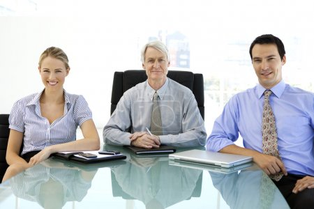 Business managers close to senior CEO