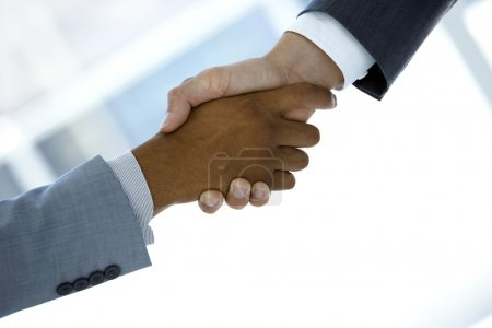 Business handshake for a successful agreement